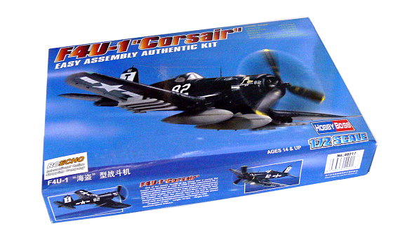 HOBBYBOSS Aircraft Model 1/72 F4U-1 Corsair Scale Hobby 80217 B0217