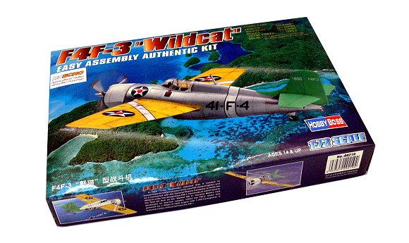 HOBBYBOSS Aircraft Model 1/72 F4F-3 Wildcat Scale Hobby 80219 B0219