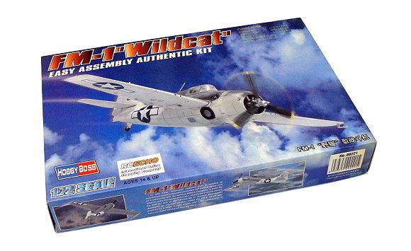 HOBBYBOSS Aircraft Model 1/72 FM-1 Wildcat Scale Hobby 80221 B0221