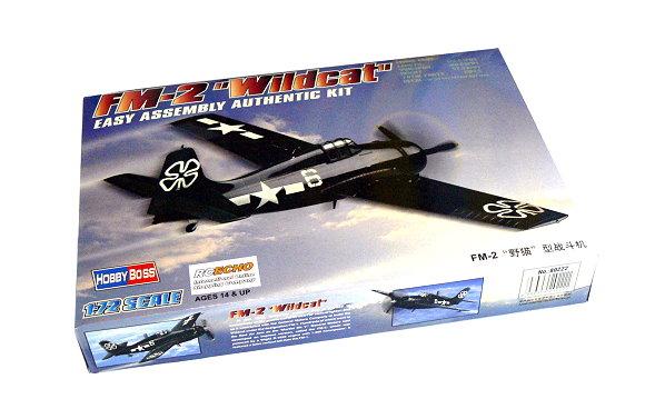HOBBYBOSS Aircraft Model 1/72 FM-2 Wildcat Scale Hobby 80222 B0222