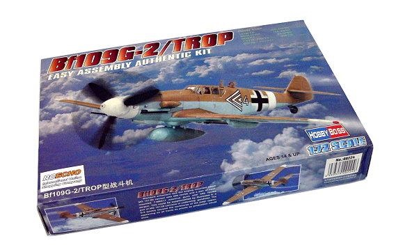 HOBBYBOSS Aircraft Model 1/72 Bf109G-2/TROP Scale Hobby 80224 B0224
