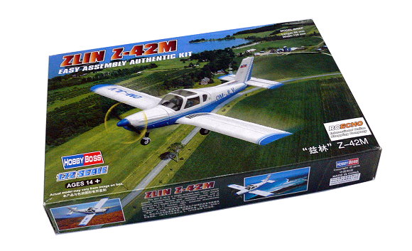 HOBBYBOSS Aircraft Model 1/72 ZLIN Z-42M Scale Hobby 80231 B0231