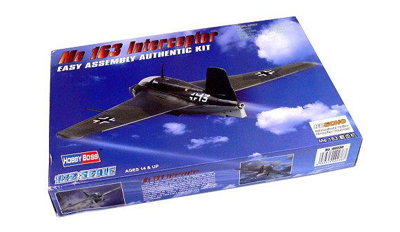 HOBBYBOSS Aircraft Model 1/72 Me 163 Interceptor Scale Hobby 80238 B0238