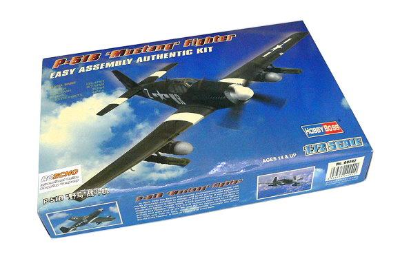 HOBBYBOSS Aircraft Model 1/72 P-51B Mustang Fighter Scale Hobby 80242 B0242