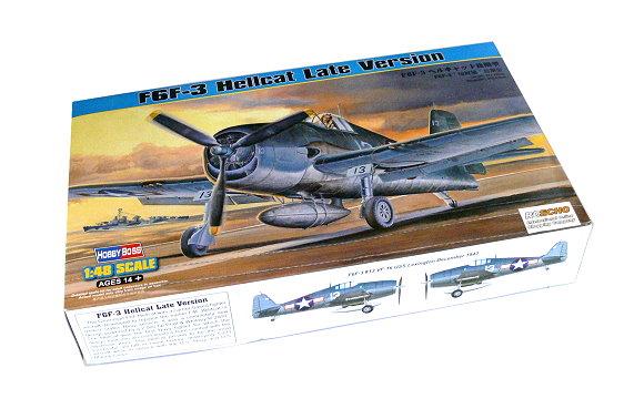 HOBBYBOSS Aircraft Model 1/48 F6F-3 Hellcat Late Version Scale Hobby 80359 B0359