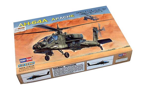 HOBBYBOSS Helicopter Model 1/72 AH-64A Apache Scale Hobby 87218 B7218