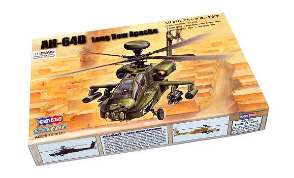 HOBBYBOSS Helicopter Model 1/72 AH-64D Long Bow Apache Scale Hobby 87219 B7219