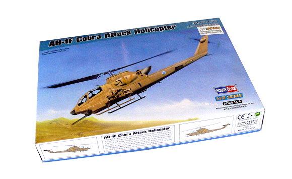HOBBYBOSS Helicopter Model 1/72 AH-1F Cobra Attack Helicopter Hobby 87224 B7224