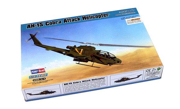 HOBBYBOSS Helicopter Model 1/72 AH-1S Cobra Attack Helicopter Hobby 87225 B7225