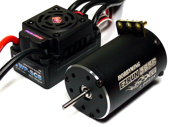 HOBBYWING EZRUN 3656 4700KV RC Brushless Motor & WP SC8 120A ESC Combo ME180
