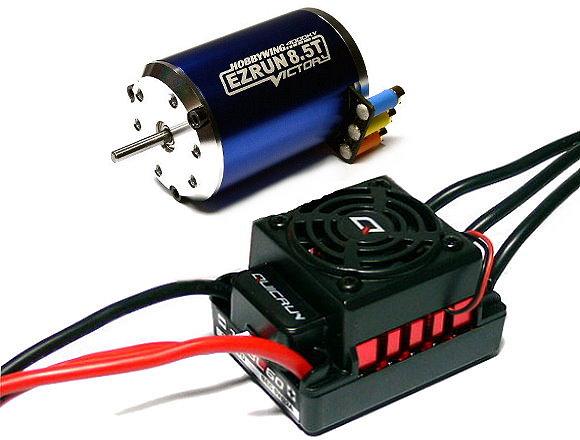 HOBBYWING EZRUN 8.5T 4000KV Model Brushless Motor & QR WP60 60A ESC Combo ME162