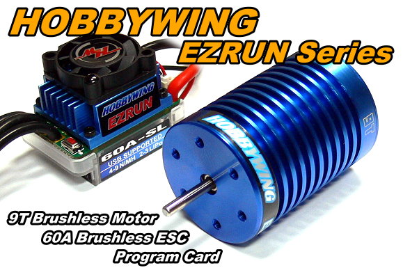 Hobbywing Ezrun 4300 Kv 9t Brushless Motor 60a Esc Speed