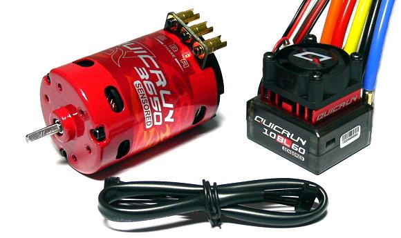 HOBBYWING QUICRUN 3650SD 1900KV 17.5T Sensored Brushless Motor & 60A ESC ME120