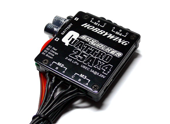 HOBBYWING SKYWALKER QUATTRO RC Model 25A x4 Brushless Speed Controller ESC SL012