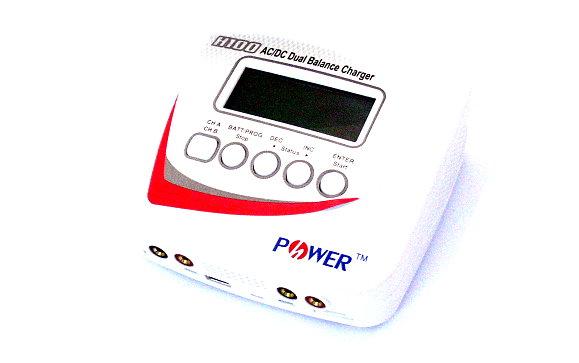 H-POWER Model H100 AC/DC White Dual Balance Charger / Discharger (EU Plug) BC600