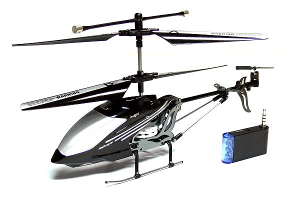 RC Electric 777-173 3ch Black Mini i-helicopter for iPhone/iTouch/iPad EH015