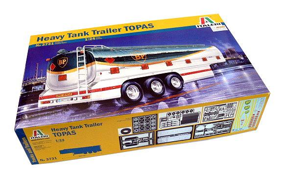 ITALERI Truck & Trailers Model 1/24 Heavy Tank Trailer TOPAS Hobby 3731 T3731