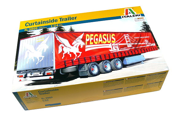 ITALERI Truck & Trailers Model 1/24 Curtainside Trailer Scale Hobby 3809 T3809