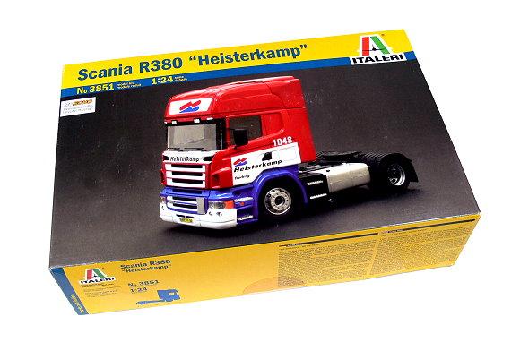 ITALERI Truck & Trailers Model 1/24 Scania R380 Heisterkamp Hobby 3851 T3851