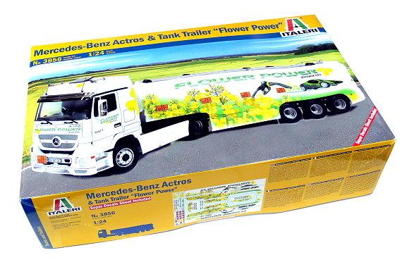 ITALERI Truck & Trailers Model 1/24 Mercedes-Benz Actros & Trailer 3856 T3856