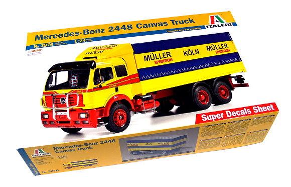ITALERI Truck & Trailers Model 1/24 Mercedes-Benz 2448 Canvas Truck 3876 T3876