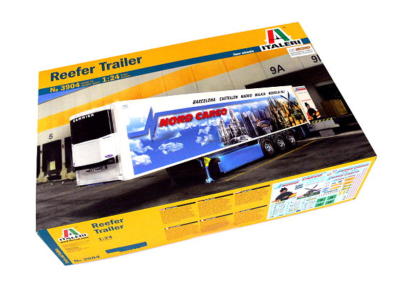 ITALERI Truck & Trailers Model 1/24 Reefer Trailer Scale Hobby 3904 T3904
