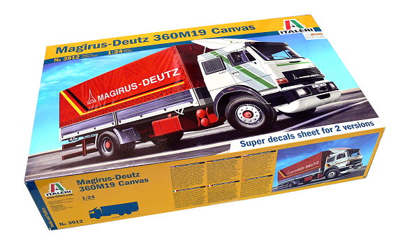 ITALERI Truck & Trailers Model 1/24 Magirus-Deutz 360M19 Canvas 3912 T3912