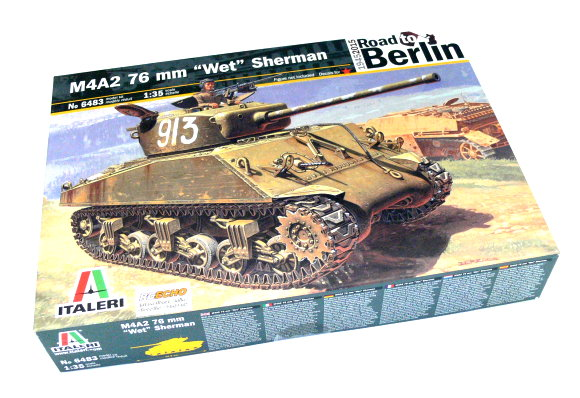 ITALERI Military Model 1/35 M4A2 76 mm Wet Sherman Scale Hobby 6483 T6483