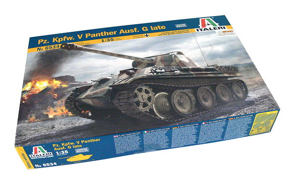 ITALERI Military Model 1/35 Pz. Kpfw. V Panther Ausf. G Late Hobby 6534 T6534