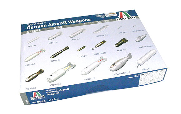 ITALERI Aircraft Model 1/48 World War II German Aircraft Weapons 2691 T2691