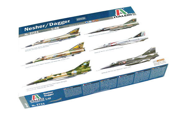 ITALERI Aircraft Model 1/48 Nesher / Dagger Scale Hobby 2721 T2721