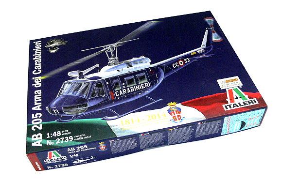 ITALERI Helicopter Model 1/48 AB 205 Arma dei Carabinieri Scale Hobby 2739 T2739