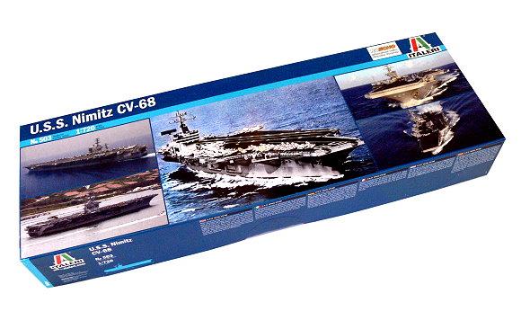 Italeri Military Model 1 720 War Ship U S Nimitz Cv 68 Scale Hobby 503