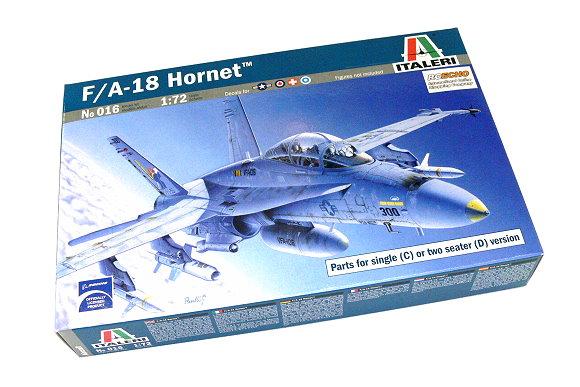 ITALERI Aircraft Model 1/72 F/A-18 Hornet Scale Hobby 016 T0016