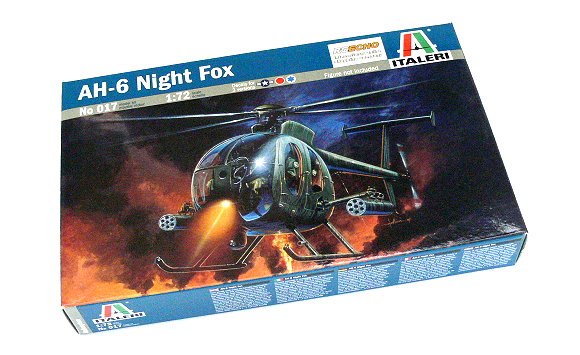 ITALERI Helicopter Model 1/72 AH-6 Night Fox Scale Hobby 017 T0017