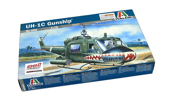 ITALERI Helicopter Model 1/72 Bell U-1C Gunship Scale Hobby 050 T0050