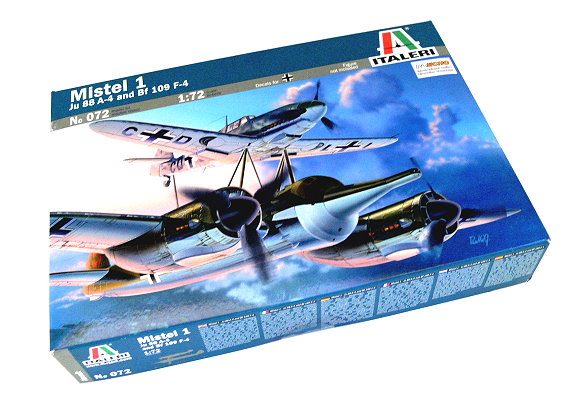 ITALERI Aircraft Model 1/72 Mistel 1 Ju 88 A-4 and Bf 109 F-4 Hobby 072 T0072