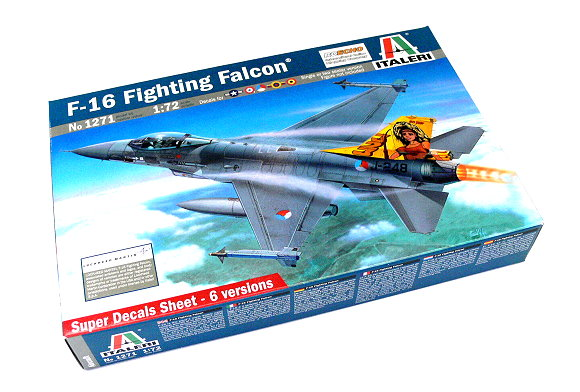 ITALERI Aircraft Model 1/72 F-16 Fighting Falcon Scale Hobby 1271 T1271