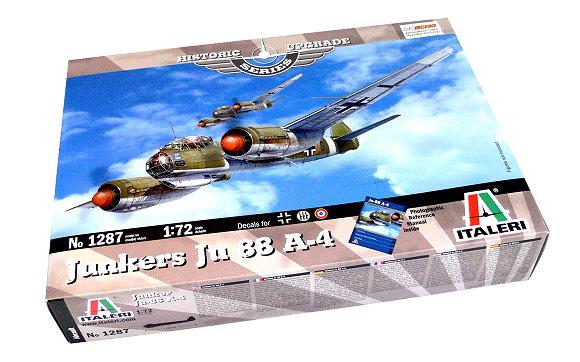 ITALERI Aircraft Model 1/72 Historic Upgrade Series Junkers Ju 88 A-4 1287 T1287