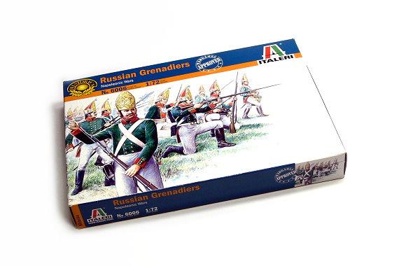 ITALERI Historics 1/72 Napoleonic Wars Russian Grenadiers Scale Hobby 6006 T6006