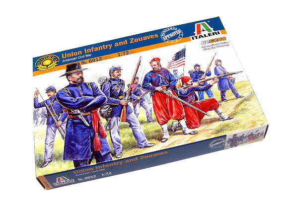 ITALERI Historics 1/72 American Civil War Union Infantry and Zouaves 6012 T6012