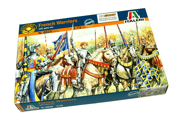 ITALERI Historics 1/72 100 Years War French Warriors Hobby 6026 T6026