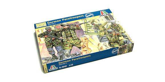 ITALERI Military Model 1/72 World War II German Paratroopers Hobby 6045 T6045