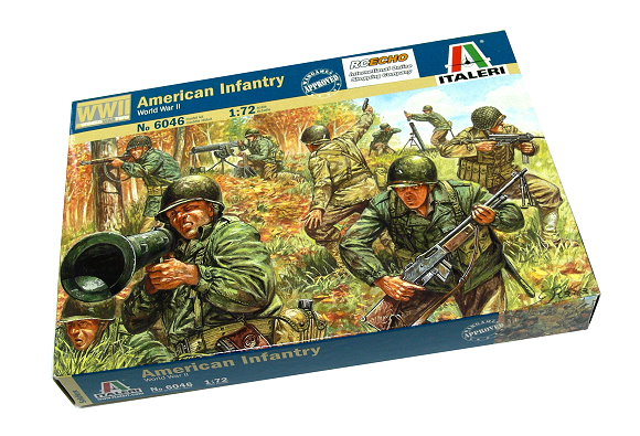 ITALERI Military Model 1/72 Soldiers World War II American Infantry 6046 T6046