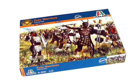 ITALERI Historics 1/72 Colonial Wars Zulu Warriors Scale Hobby 6051 T6051