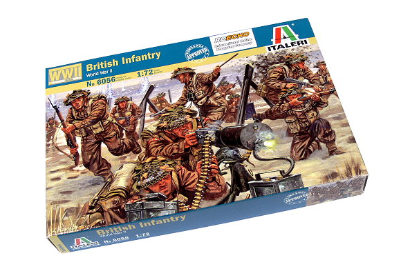ITALERI Military Model 1/72 Soldiers World War II British Infantry 6056 T6056
