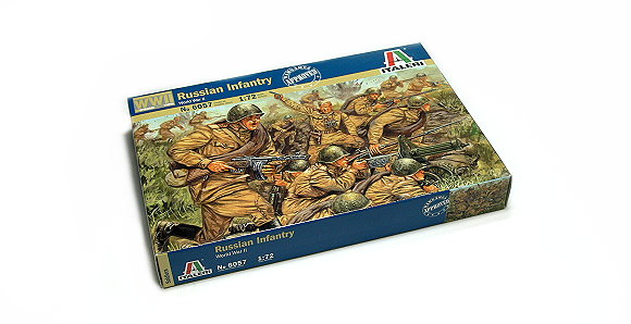 ITALERI Military Model 1/72 World War II Russian Infantry Scale Hobby 6057 T6057