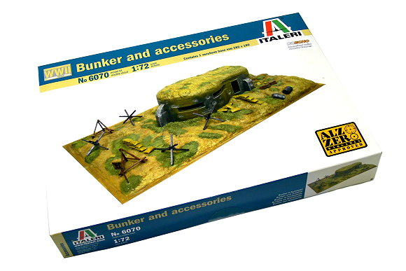 ITALERI Military Model 1/72 Accessories Bunker and accessories Hobby 6070 T6070