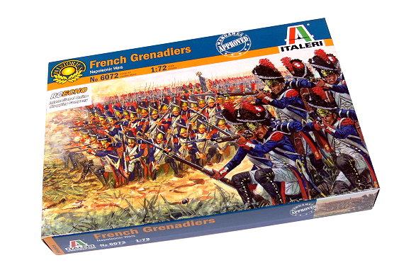 ITALERI Historics 1/72 Napoleonic Wars French Grenadiers Scale Hobby 6072 T6072