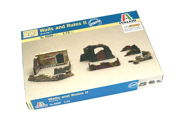 ITALERI Military Model 1/72 Soldiers WWII Walls and Ruins II Hobby 6090 T6090